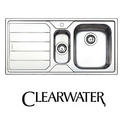 CLEARWATER LINEAR 1.5 Bowl Sleek Modern Brushed Stainless Steel ...