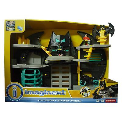 Fisher Price Bat Cave Imaginext Batman Robin Figure For Age 3-8 Years TOY NEW