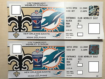 2 tickets f r no saints vs miami dolphins im wembley stadion am eur 250 00. Black Bedroom Furniture Sets. Home Design Ideas