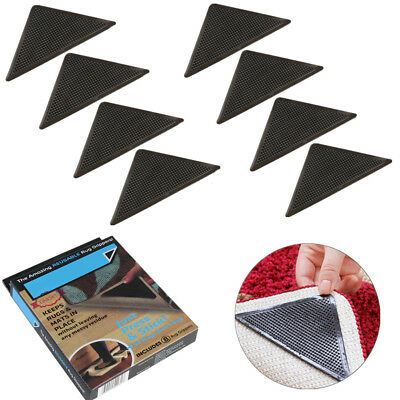 8pcs Triangle Anti-Rutsch Gummi Teppich Grippers Greifer Stopper Vorleger
