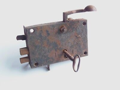 Antique Pa Dutch Elbow Door Lock And Key