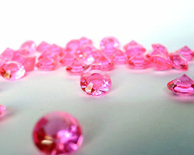 50000 x BUBBLE GUM CANDY PINK 4.5MM WEDDING DIAMOND CONFETTI TABLE DECORATION