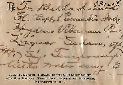 Cannabis Ind Marijuana Ext  Prescription  Rx  Pharmacy Drugstore  1903 Very Rare