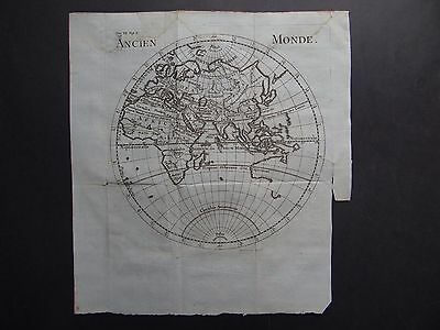 1740 DU FRESNOY Atlas  ANCIENT WORLD  map Ancien Monde - Desbruslins sculp