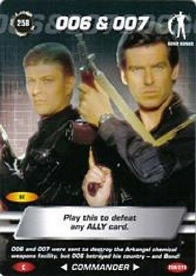 James Bond 007 Spy Card 006 & 007 Trading Card Number 258 COMMON CARD