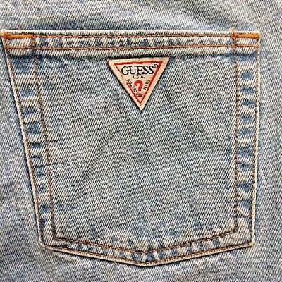 Vintage 90's GUESS USA Women's MOM Jeans Denim Pants Size 29 Georges Marciano