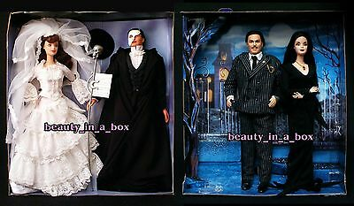 Phantom of the Opera Barbie Doll Addams Family Morticia Gomez Ken ~ NO BOX Lot 2