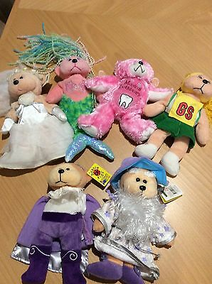Collectables beanie bears x6