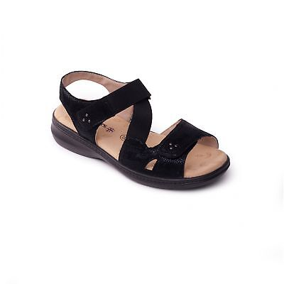 cd3d5dd98ae3 Padders LOUISE 2 Ladies Womens Comfy Extra Wide EEE Touch Fasten Sandals  Black
