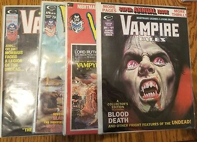 VAMPIRE TALES #1 10 11 and annual 1 4 Issue Horror Lot Magazine Marvel