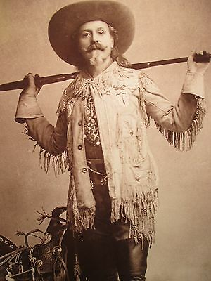 AUTHENTIC Buffalo Bill Standing Print Museum Historical Center Cody