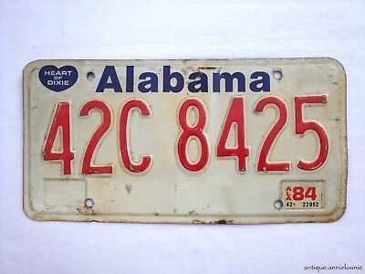 1984 ALABAMA LAWRENCE COUNTY Vintage License Plate # 42C 8425