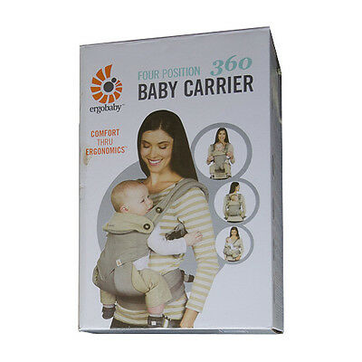 ERGOBABY 360 4 Position Ergo baby carrier / GRAY / NEW in BOX!