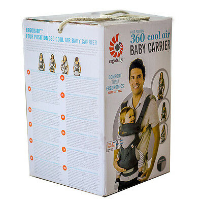 ERGOBABY 360 4 Position baby carrier COOL AIR MESH CARBON GREY / NEW in BOX