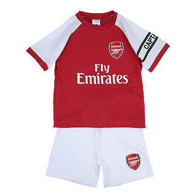Arsenal FC Official Football Gift Home Kit Baby T-Shirt & Shorts