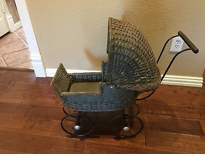 LOCAL PICKUP ONLY! Vintage 1930's Wicker Doll Carriage Buggy
