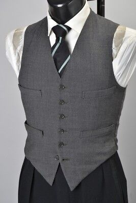 Gentlemans Fine Quality Hobson Of London 1934 Tailored City Style Waistcoat. BUF