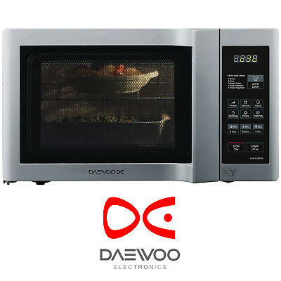 Daewoo KOR6L6BDSL 20L 800w Touch Control Microwave with Duo Plate in Silver