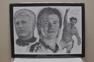 Manchester United Beckham, Giggs and Schmeichel Drawing
