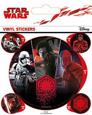 Star Wars - The Last Jedi - First Order -Stickerset Sticker Aufkleber 10x12,5 cm