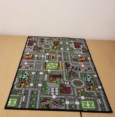 Childrens City Road Rugs Town Cars Map Play Village Mat Non-Slip Kids Room Soft