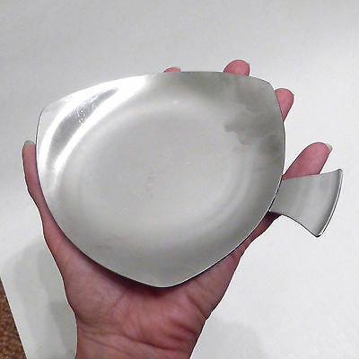 1970's Tudor Knight stainless steel dish/small tray/plate. Vintage/retro spades
