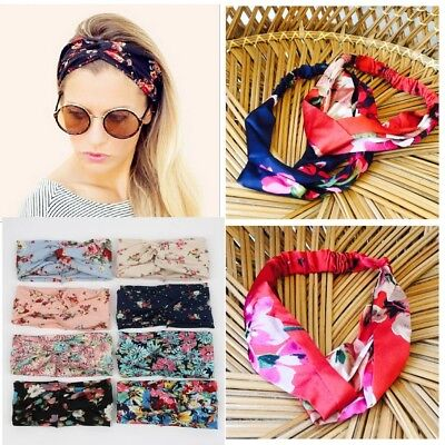 Headband Turban Soft Twist Wrap Twisted Knotted Knot Hair Band yoga Korea retro