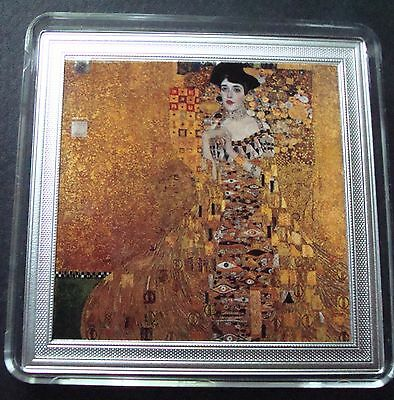 Niue 2015 $2 Adele Gustav Klimt 2 OZ .Silver Proof .999 500 Pices Only