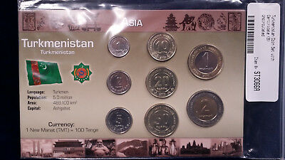 UNCIRCULATED Turkmenistan Coin Set and Certificate