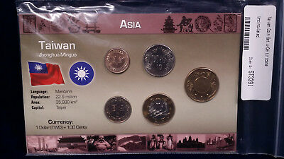 UNCIRCULATED Taiwan Coin Set and Certificate