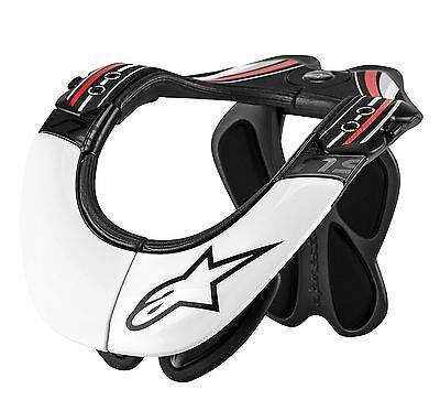Alpinestars Bionic Neck Support S482-6011 L/xl Large X-Large Black White Bns