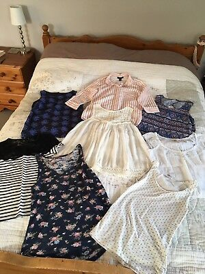 Bundle Of Women's Size 8 Tops From Various Shops (New Look, Next, Hollister Etc)