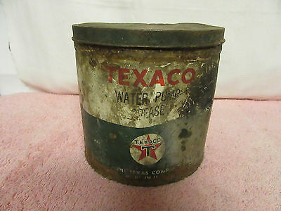 Vintage TEXACO Water Pump Grease Tin Can