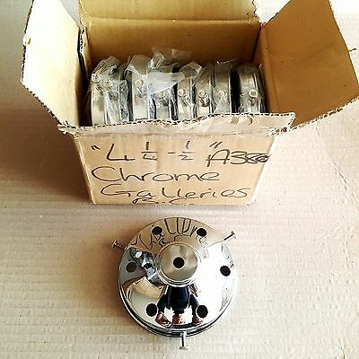 """Box of 10 Chrome 4 1/4"""" Lamp/Light Galleries/ Gallery £12 For 10 Galleries"""