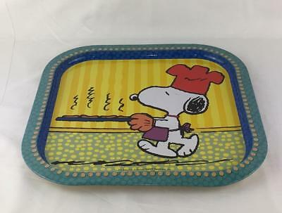 "Peanuts SNOOPY Serving Tray Metal 13"" X 1/2"" H CHEF SNOOPY Chocolate Chip Cookie"