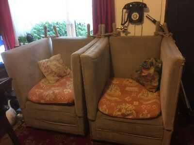 Antique Pair Of Knole Chairs