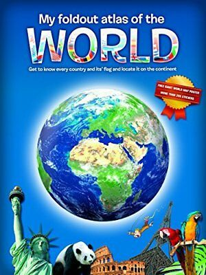 My Fold-Out Atlas of the World New Hardback Book