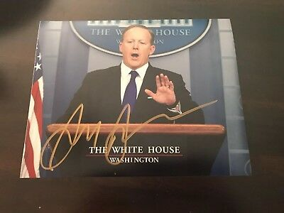 Sean Spicer Signed 8x10 Photo White House Politics