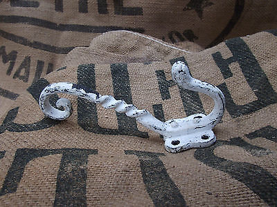 Vintage Wrought Iron Door Hook, Victorian, Country House Shabby Chic Style, Coat