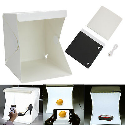 Photo Photography Studio Lighting Mini Portable LED Light Tent Kit Box Folding