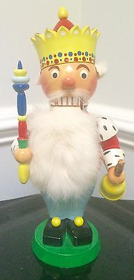 *ultra Rare* Flawless Steinbach Post Wwii Original King Nutcracker Museum Piece!