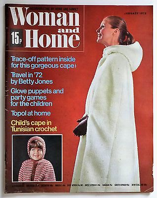 Vintage Woman and Home Magazine January 1972.