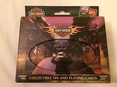 Harley-Davidson Collectible Tin & Playing Cards 2002