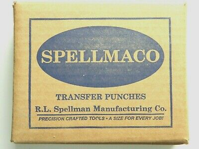 60 Piece Wire Gage Transfer Punch Set Punches Number 1 - 60 USA Spellmaco S60