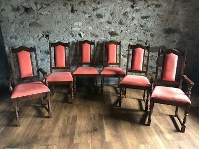 Beautiful Wood Bros Old Charm Lancaster Solid Oak Dining Chairs 4 + 2