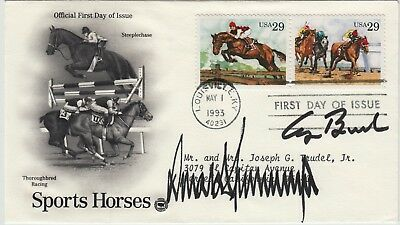 President Donald Trump & George Bush 41 Signed First Day Cover
