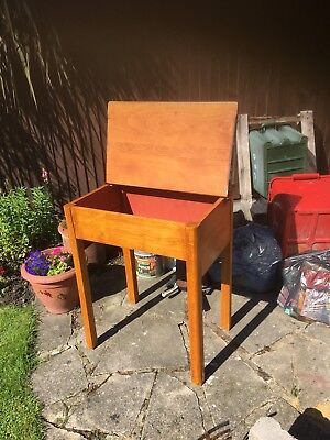 School Type Writing Desk With Hinged Lid In Clacton