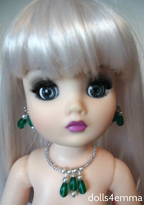 """OOAK DOLL JEWELRY """"Emeralds""""  for 21"""" CISSY and similar sized dolls - NO DOLL"""