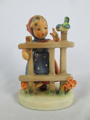 "Vintage 3 3/4"" Hummel 203 2/0 Signs of Spring Girl TMK4 West Germany Figurine"