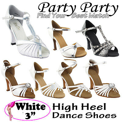 "~50 SHADES of WHITE~ 3"" Heel Dance Dress Shoes Collections-I by Party Party"